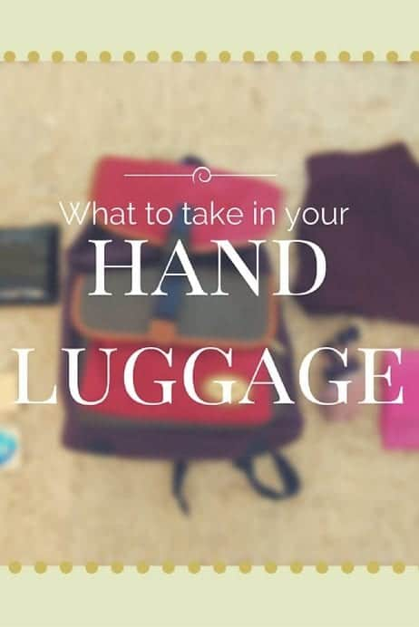 What to take in your hand luggage