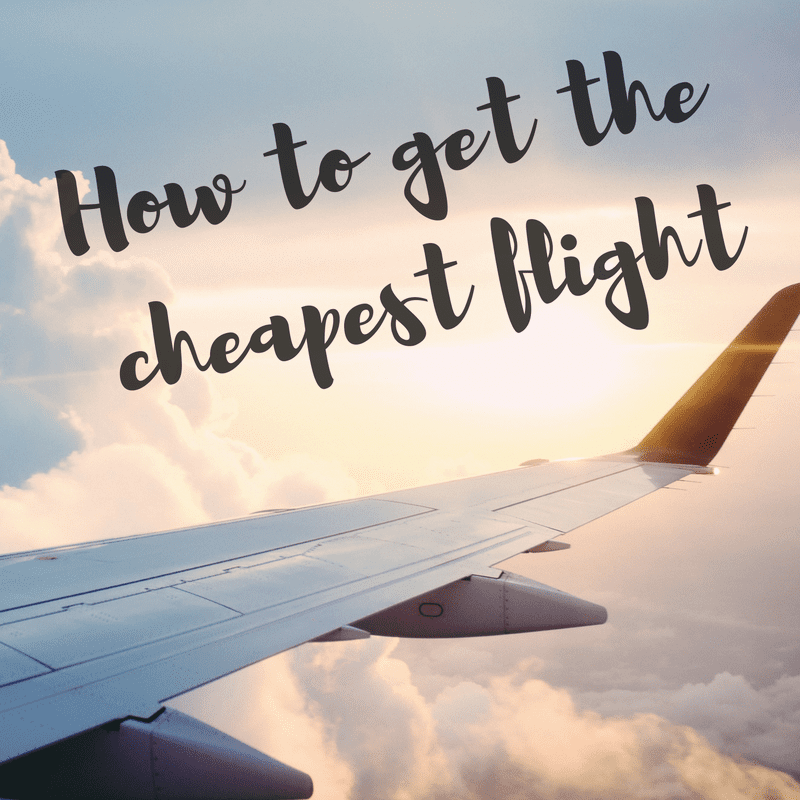 how-to-get-the-cheapest-flight