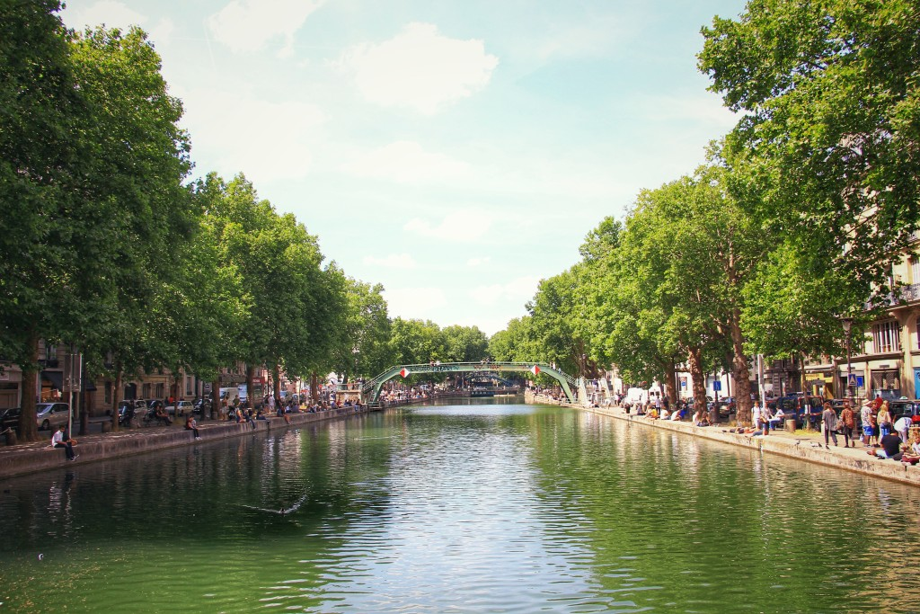 Canal Saint-Matin, Paris.