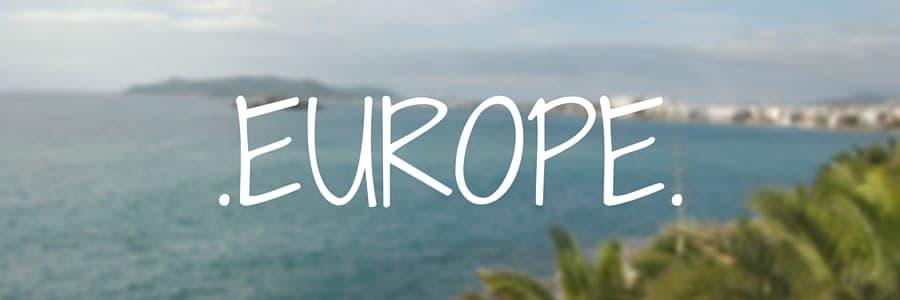 Europe. Destinations