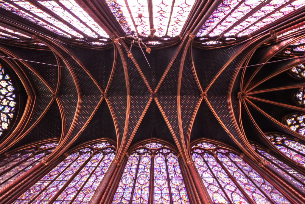 La Sainte-Chapelle ceiling, Paris