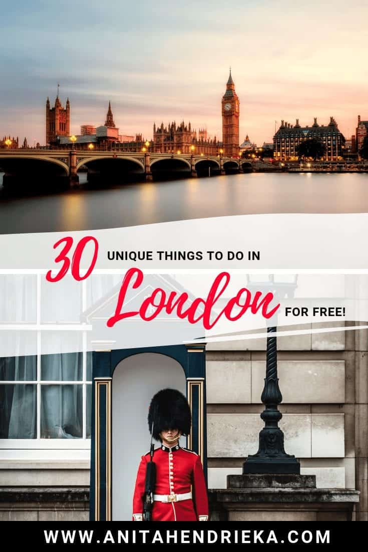 30 Unique Things to do in London For Free