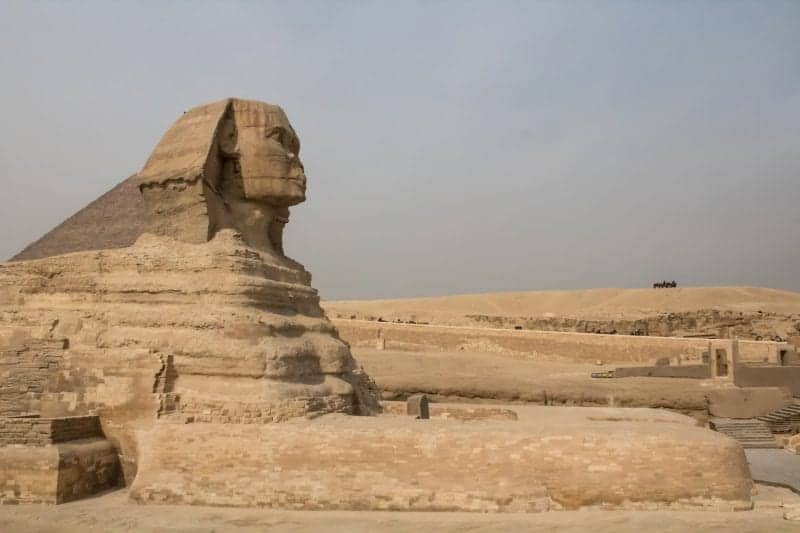 The famous Sphinx on a cloudy day
