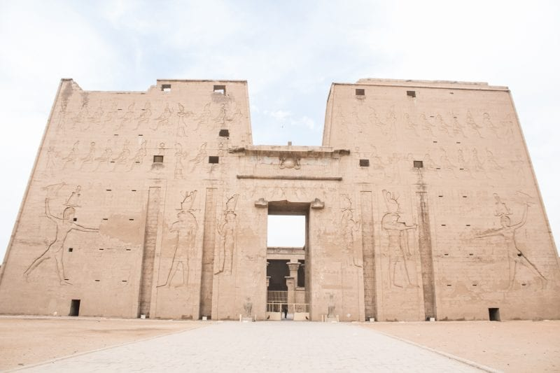 The entrance to Edfu temple
