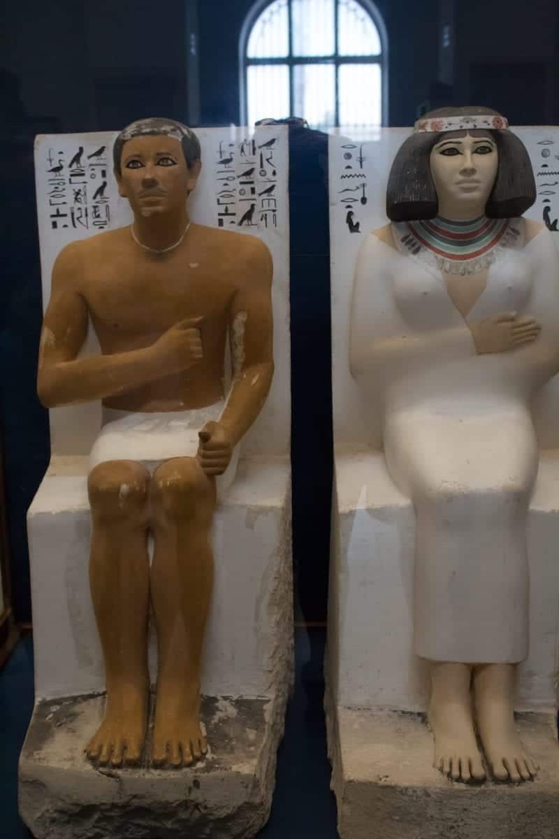 ancient Egyptian man and woman