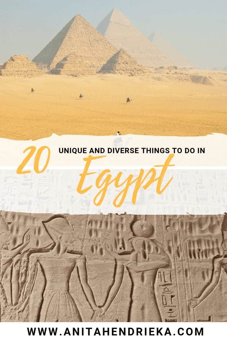 20 unique things to do in egypt Pinterest images