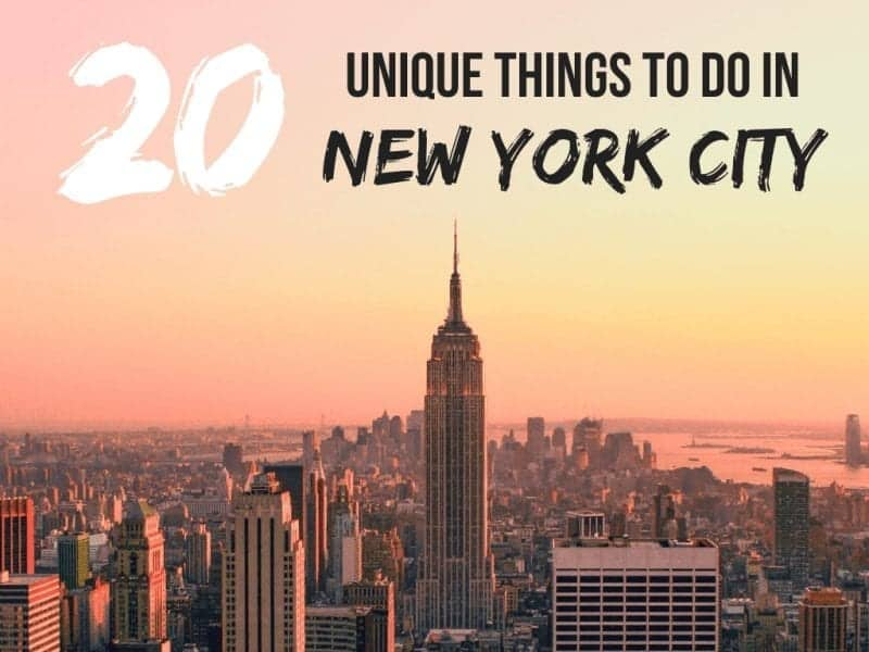 20 Unique Things to do in New York City