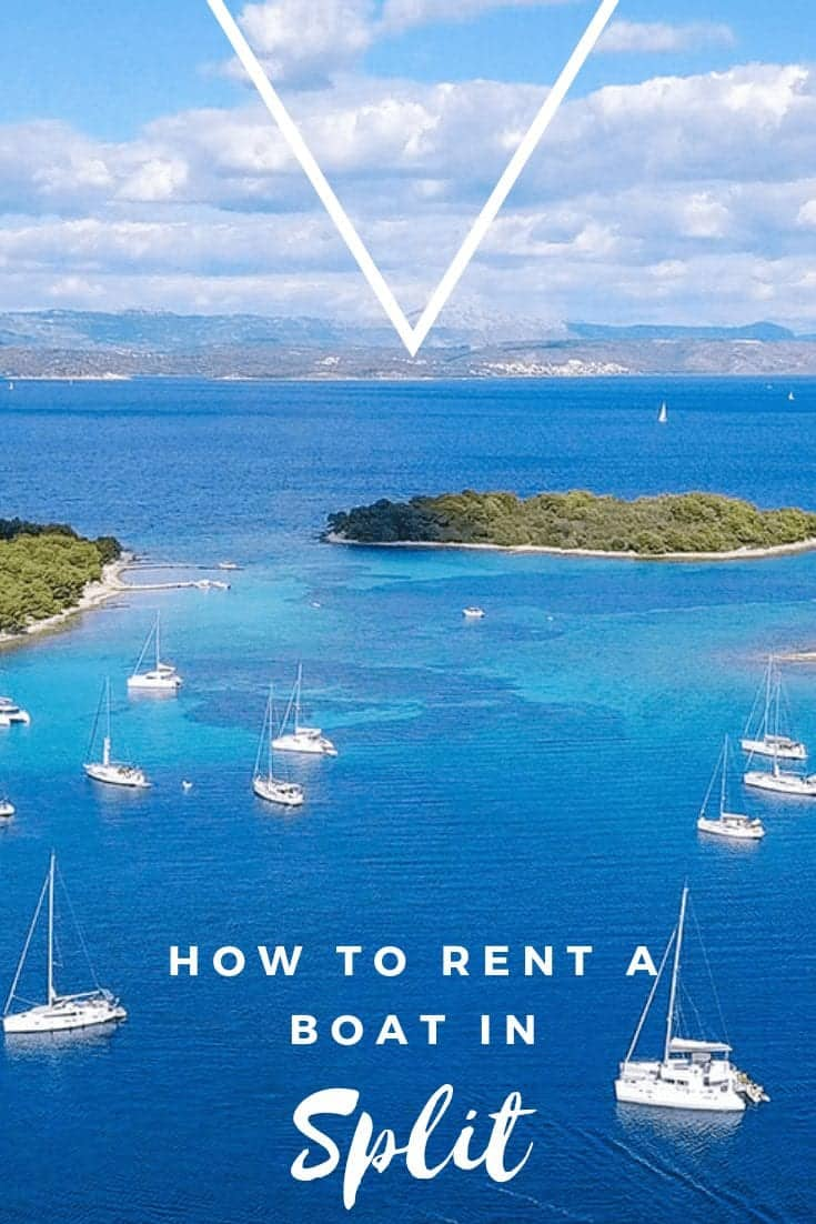 how to hire a boat in split, croatia